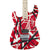 EVH Striped Series Left Handed - Red Black White - Hero
