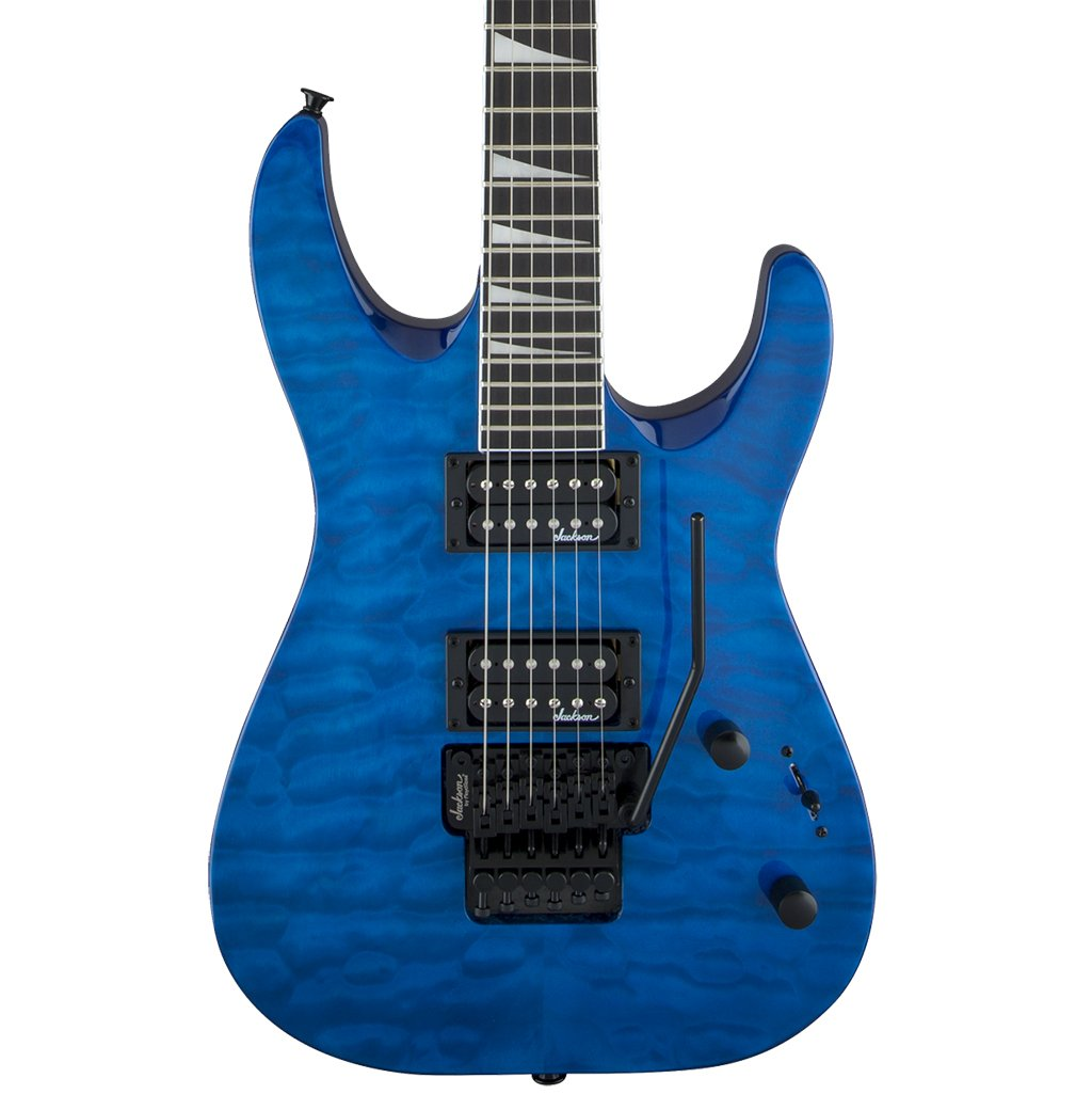Jackson - JS Series Dinky Arch Top JS32Q DKA - Transparent Blue - Amaranth Fingerboard