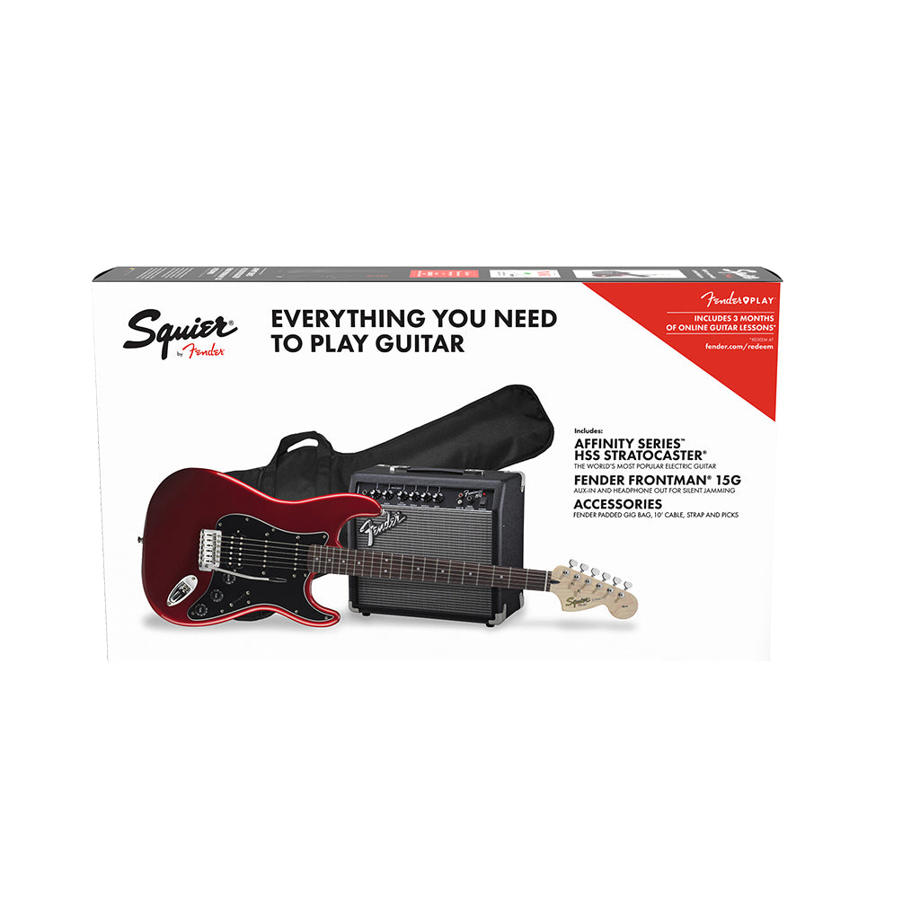 Squier Affinity Pack - Stratocaster HSS - Candy Apple Red