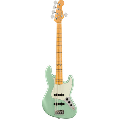 Fender - American Professional II Jazz Bass® V - Maple Fingerboard - Mystic Surf Green