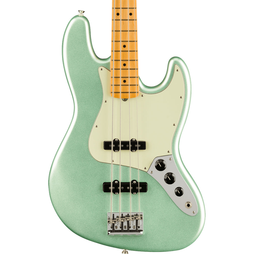 Fender - American Professional II Jazz Bass® - Maple Fingerboard - Mystic Surf Green
