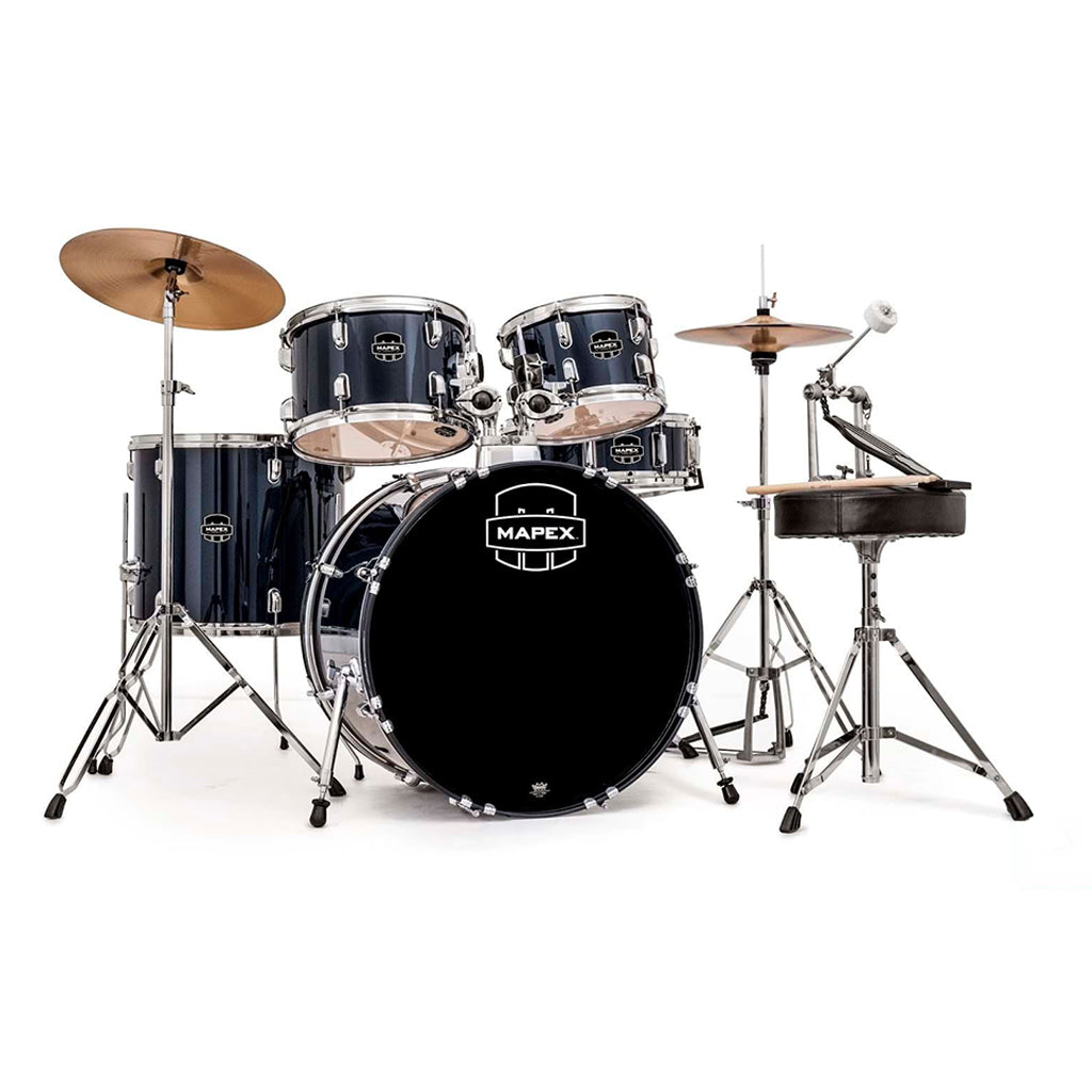 Mapex - Prodigy - Fusion Drum Kit & Cymbals - Deluxe Package - Royal Blue