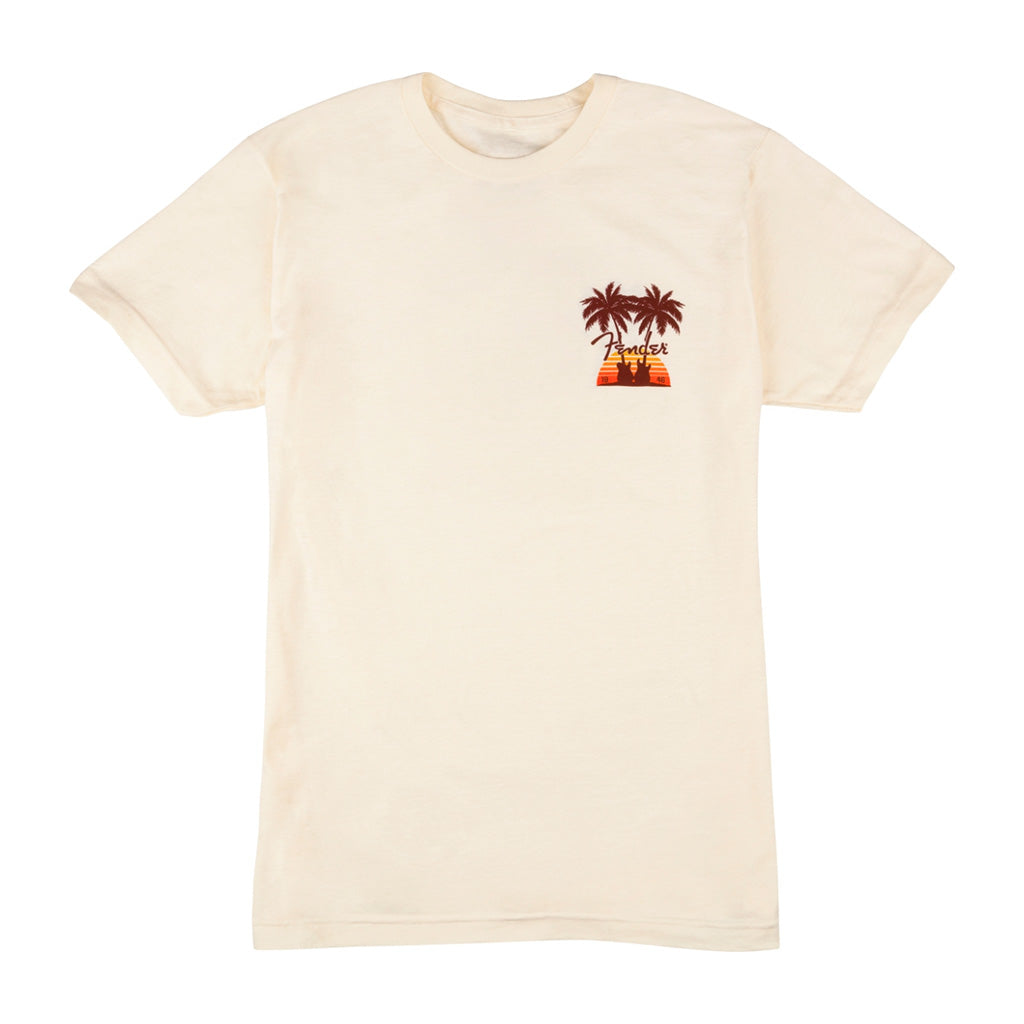 Fender - Twin Palms T-Shirt - Tan Small