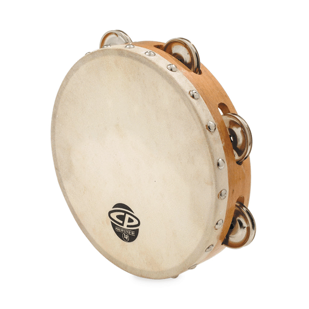 "LP - CP - 8"" Tambourine With Head Single Row"