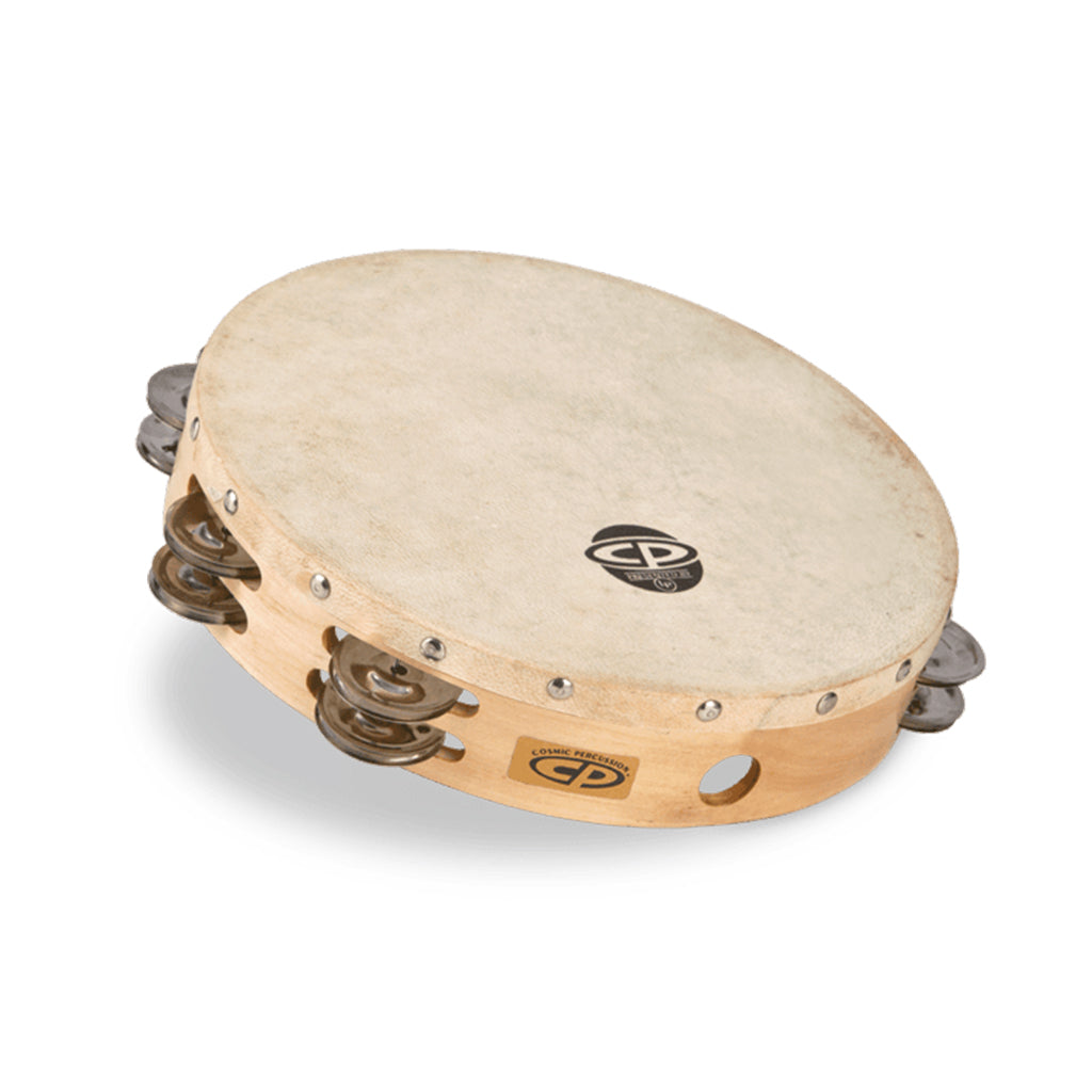 "LP - CP - 10"" Tambourine With Head Double Row"