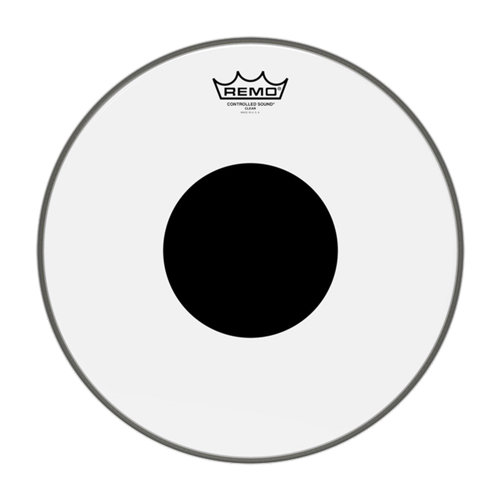 "Remo - 12"" - Control Sound Clear Black Dot"