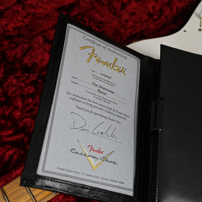 Fender Custom Shop Private Collection HAR Stratocaster - Black - Masterbuilt by Dennis Galuszka - Certificate