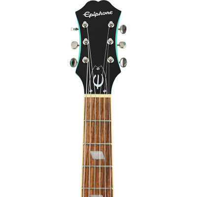Epiphone Casino Coupe - Turquoise - Headstock