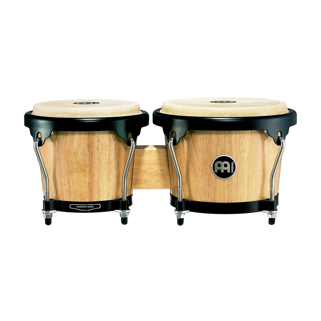 "Meinl - Headliner Series - HB100 Wood Bongos: Natural - 6 3/4"" Macho & 8"" Hembra"