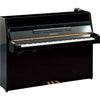 Yamaha JU109SC2PE Silent Upright Piano - Polished Ebony