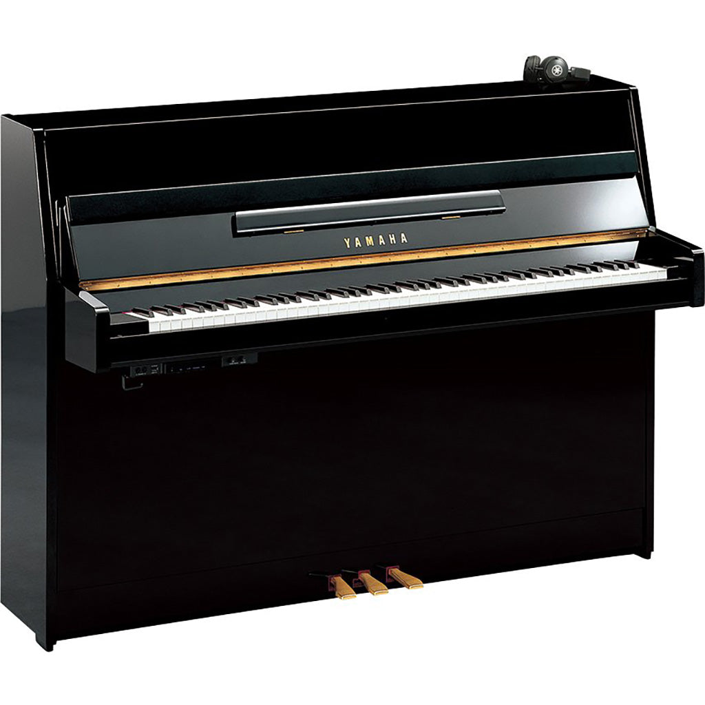 Yamaha JX113SC2 Silent Upright Piano - Polished Ebony