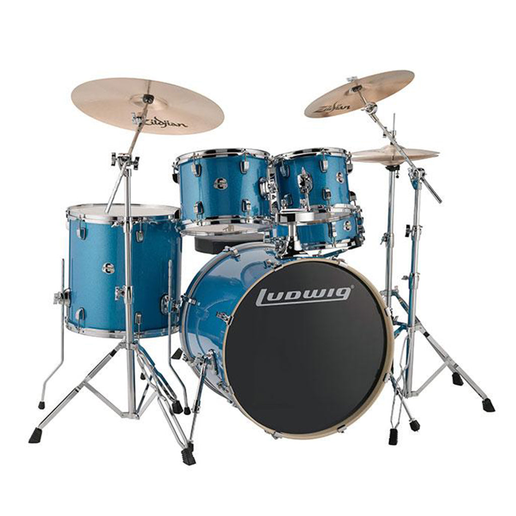 Ludwig - Evolution - Drum Kit With Hardware - Blue Sparkle