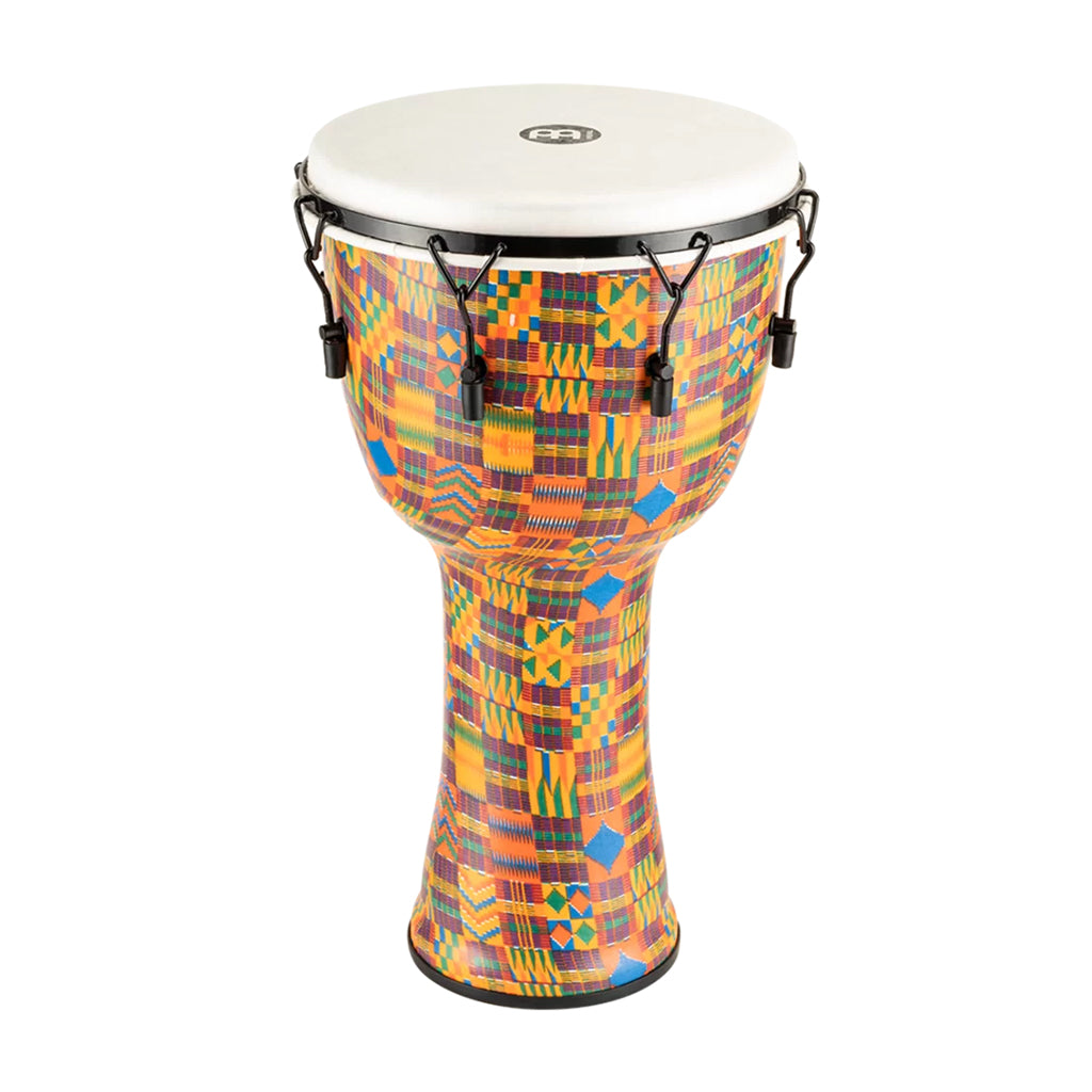 "Meinl - Mechanical Tuned Travel Series Djembe - Synthetic Head 14"" - Kenyan Quilt"