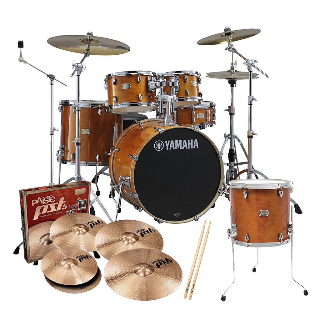 Yamaha - Stage Custom Birch - Euro Drum Kit Pack - Honey Amber