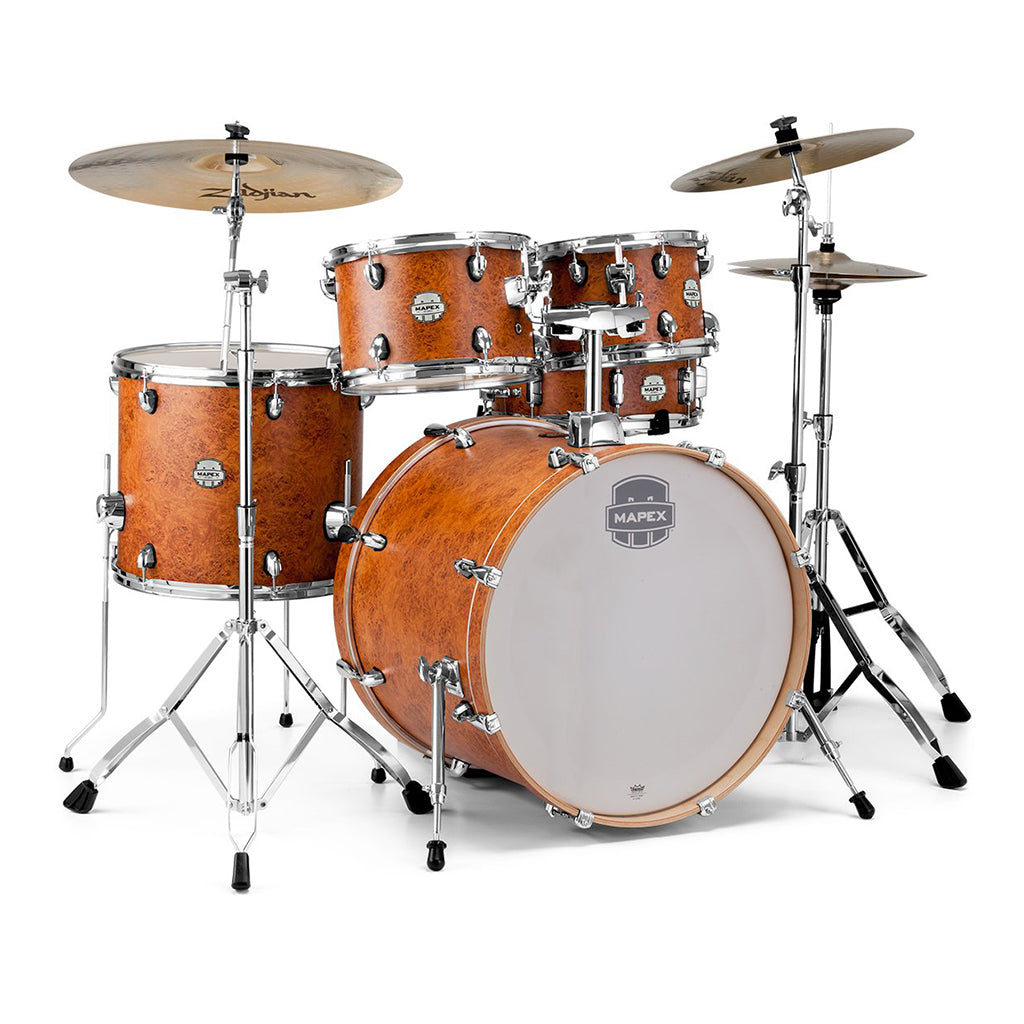 Mapex - Storm Rock - 5 Piece Drum Kit With Hardware, Camphor Wood Grain