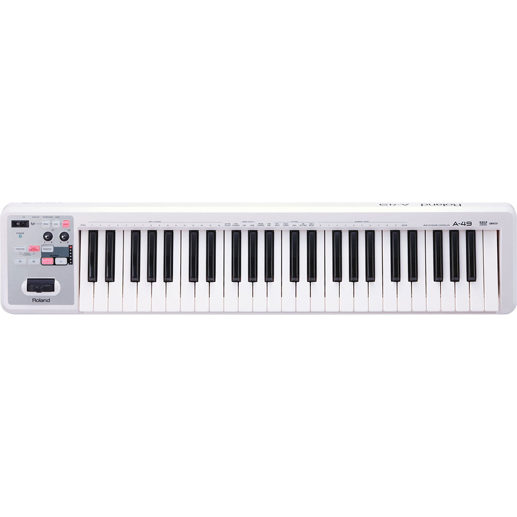 Roland A49WH MIDI Keyboard Controller - Pearl White