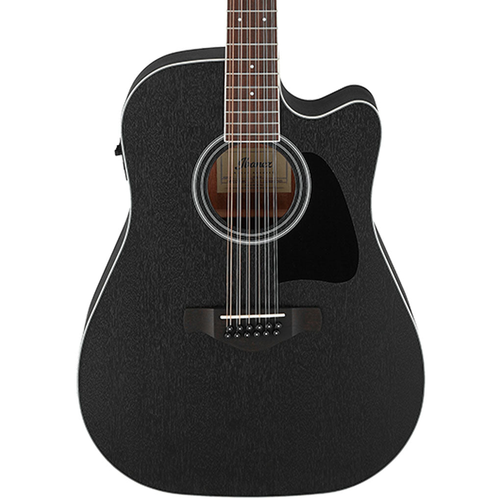 Ibanez - AW8412CE 12 String Acoustic Guitar - Weathered Black
