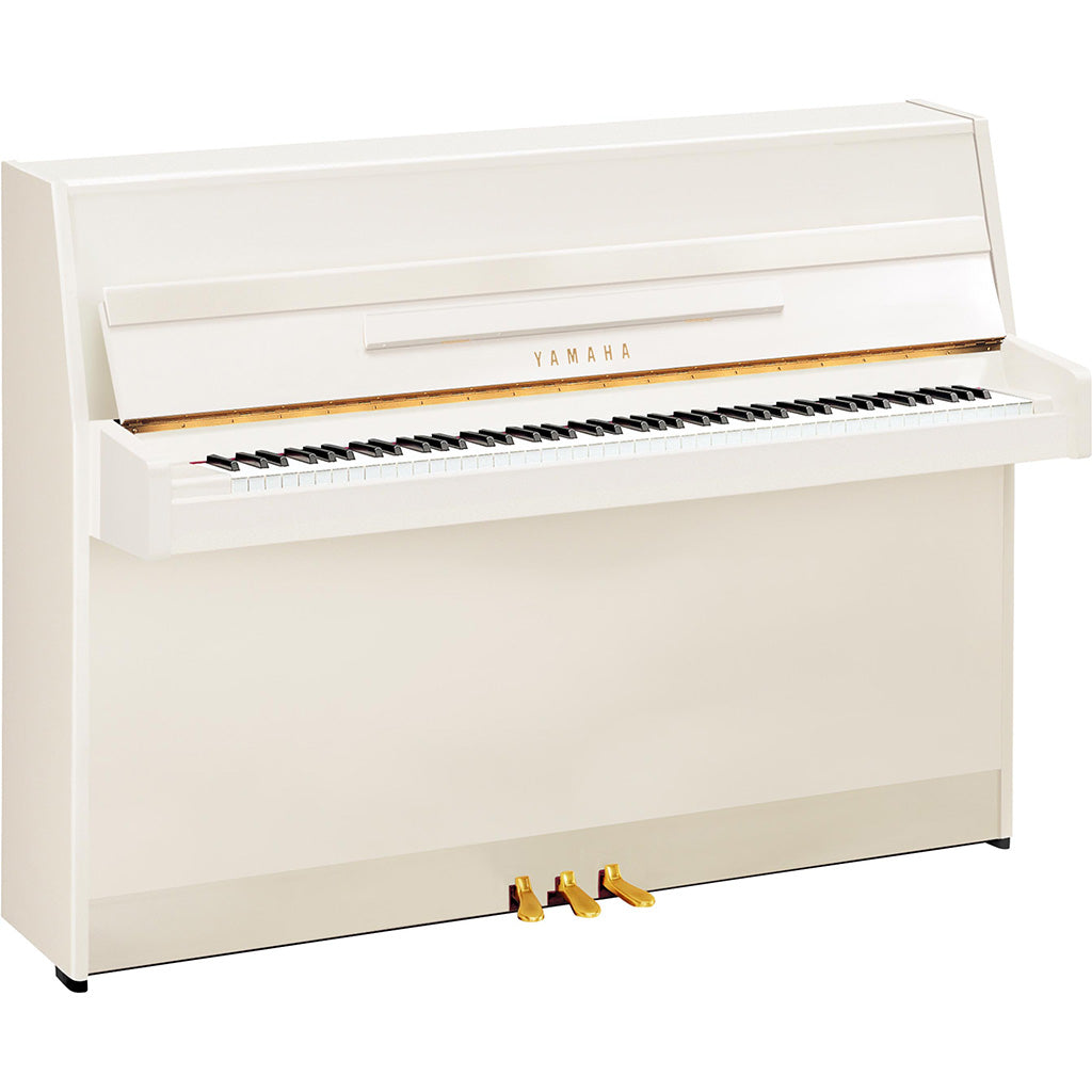 Yamaha JU109WH Upright Piano - Polished White