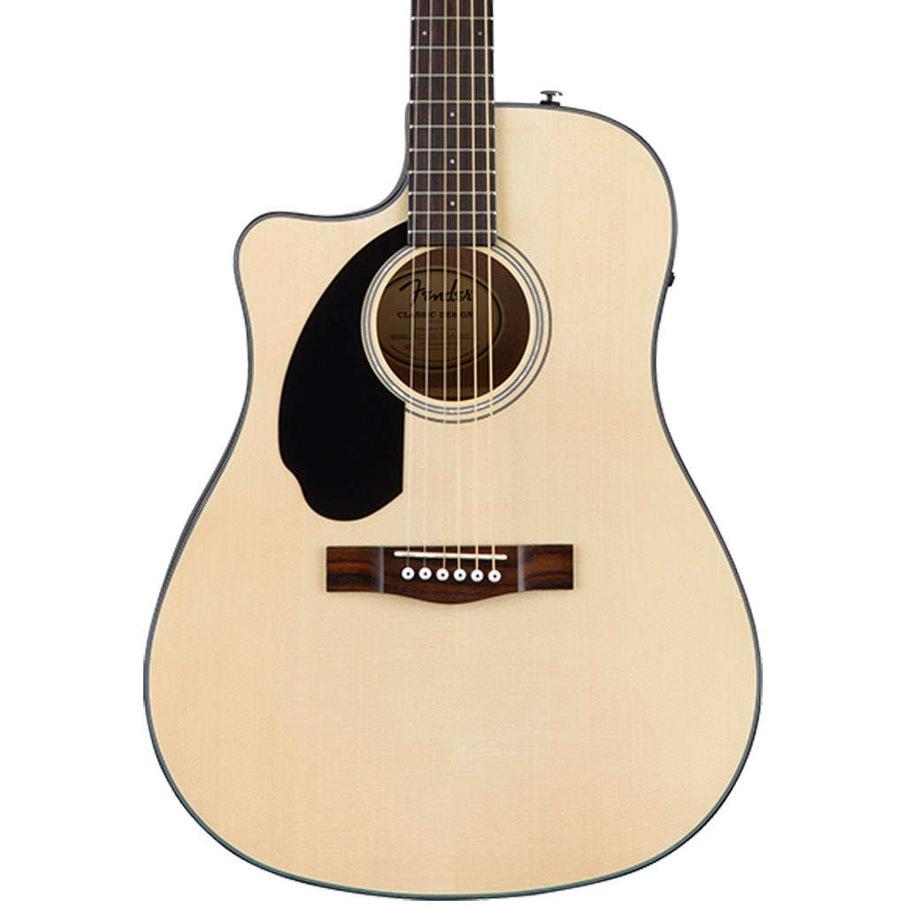Fender CD-60SCE Dreadnought Left-Hand Acoustic Guitar - Natural