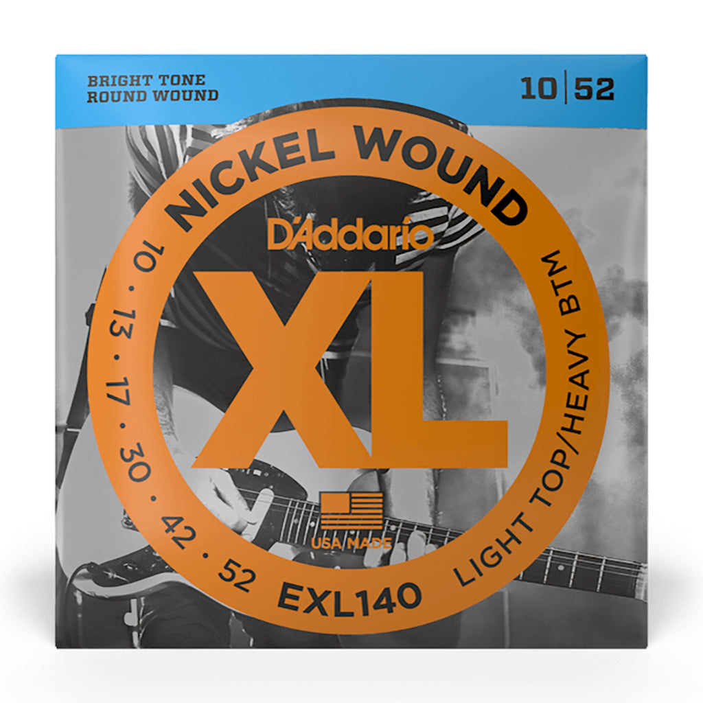 D'Addario EXL140 - Nickel Wound Light Top Heavy Bottom 10-52 - Electric Guitar Strings