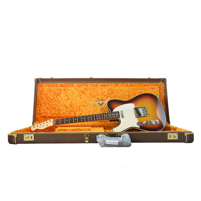 Fender Custom Shop - W20 Vintage Custom 1959 Telecaster Custom Left Hand - Chocolate 3 Colour Sunburst