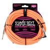 Ernie Ball E6084 - Braided Instrument Cable 18' S/A - Neon Orange