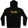 Fender Yellow Stitch Logo Hoodie Black - Medium