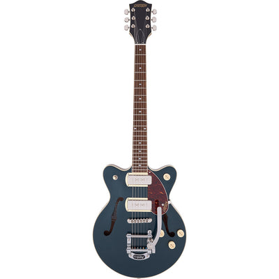 Gretsch - G2655T-P90 Streamliner™ Center Block Jr. Double-Cut P90 with Bigsby® - Laurel Fingerboard - Two-Tone Midnight Sapphire and Vintage Mahogany Stain