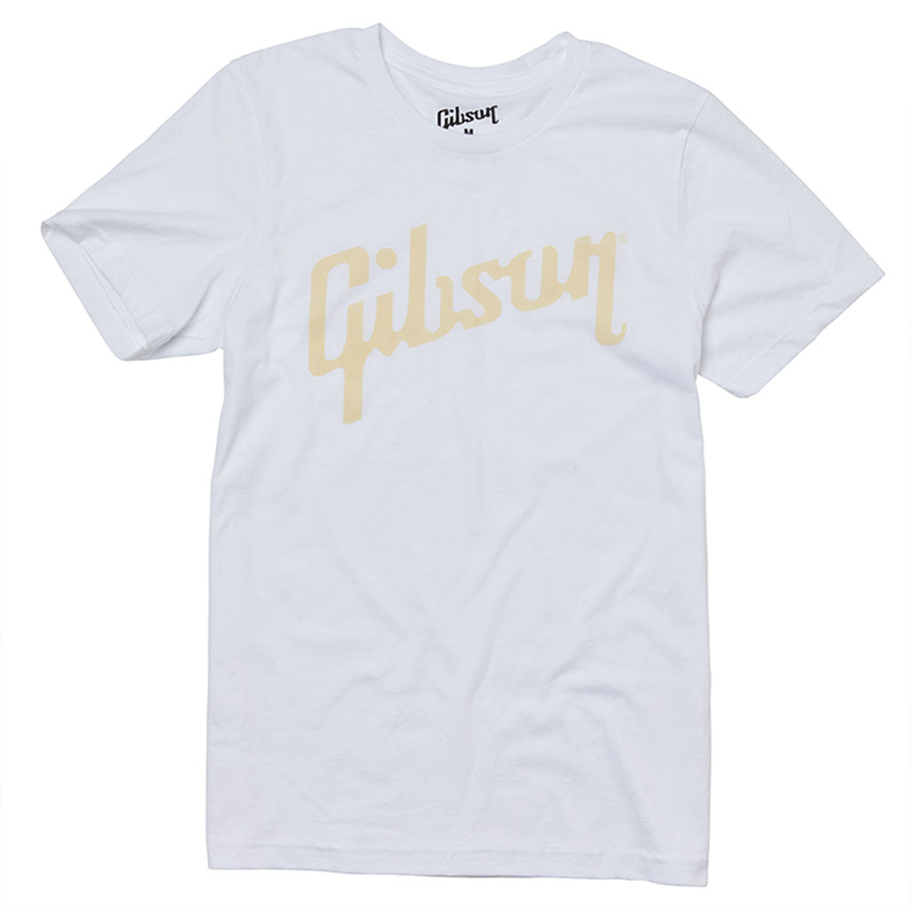 Gibson Distressed Logo Tee White - Large