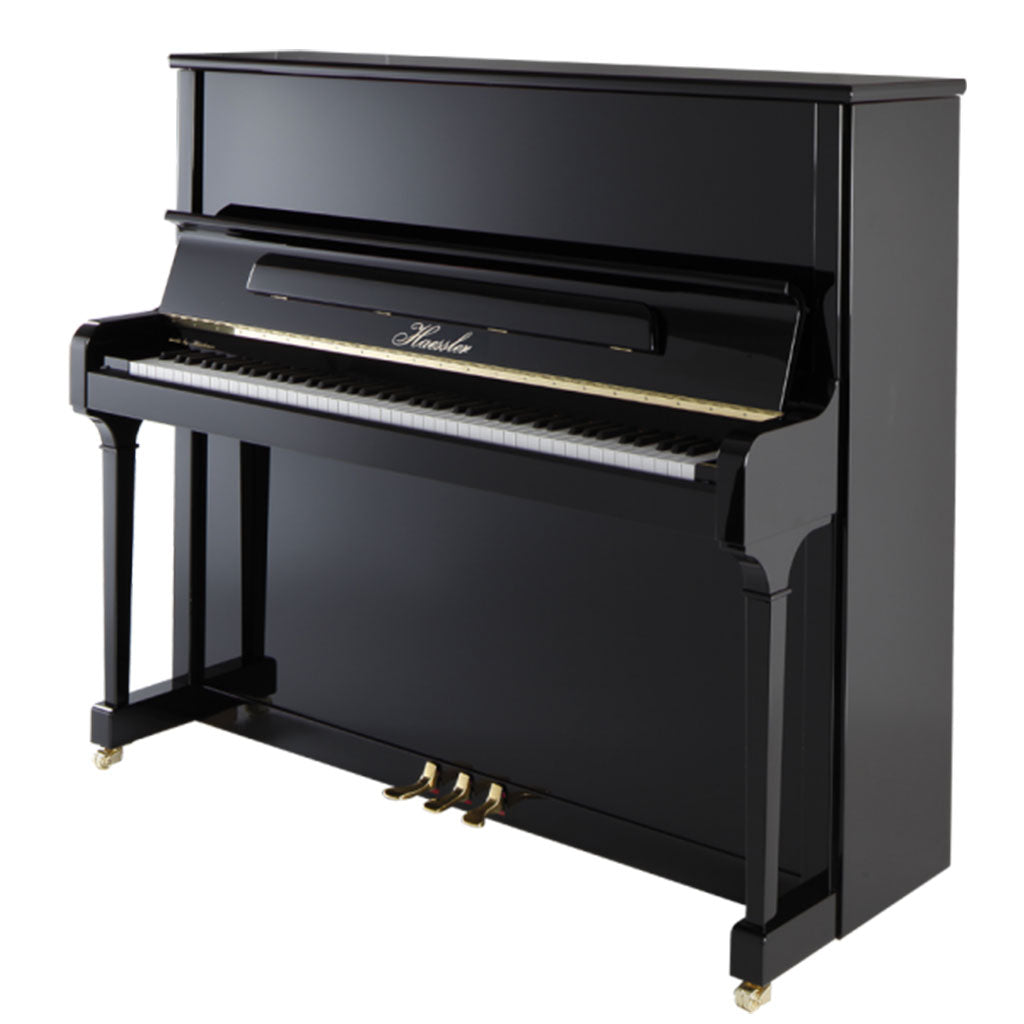 Haessler - H132 Upright Piano - Ebony Polish