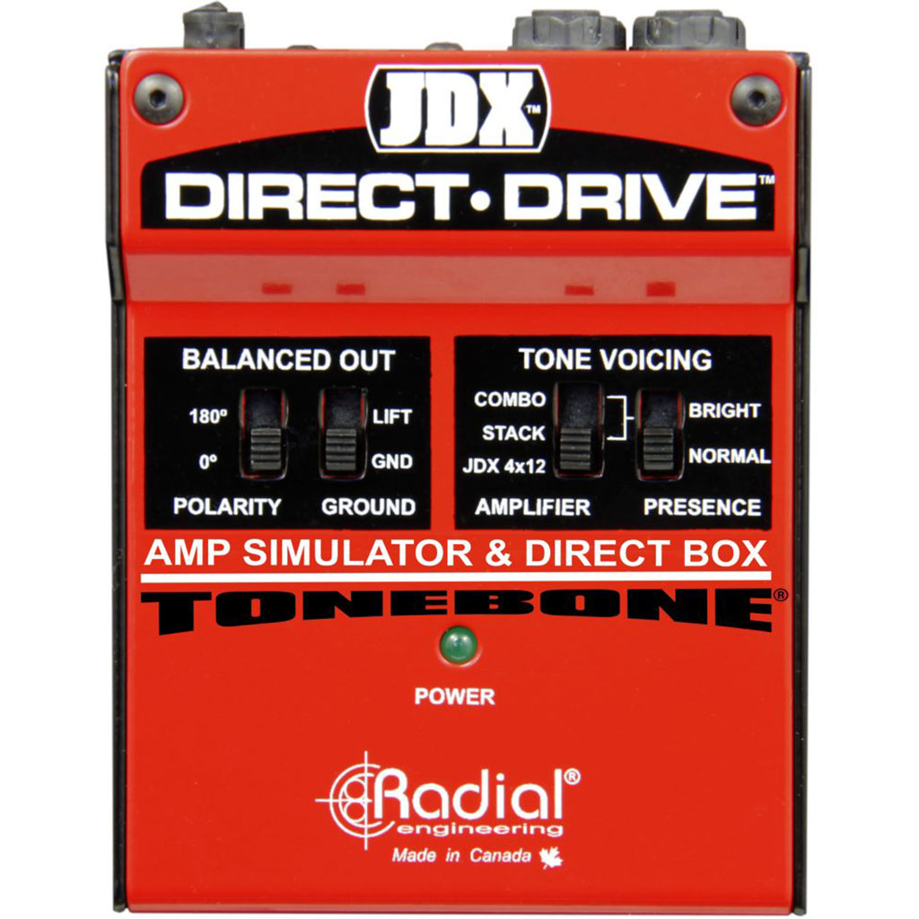 Radial JDX DIRECT-DRIVE - Guitar Amp Simulator with 3 Amp Settings and Balanced DI Out