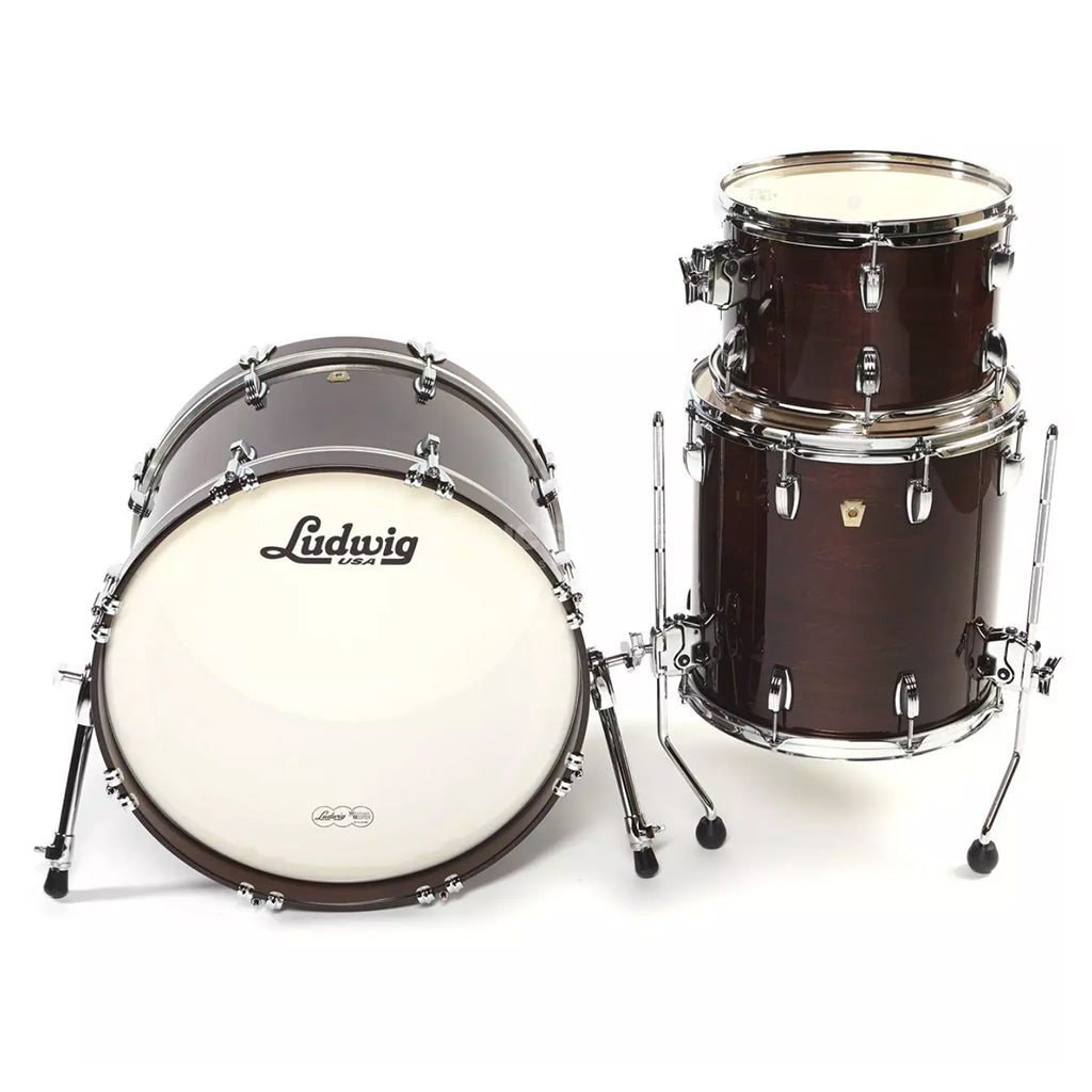 "Ludwig Classic Maple 20"" Downbeat 3-Piece Shell Pack - Mahogany Stain"