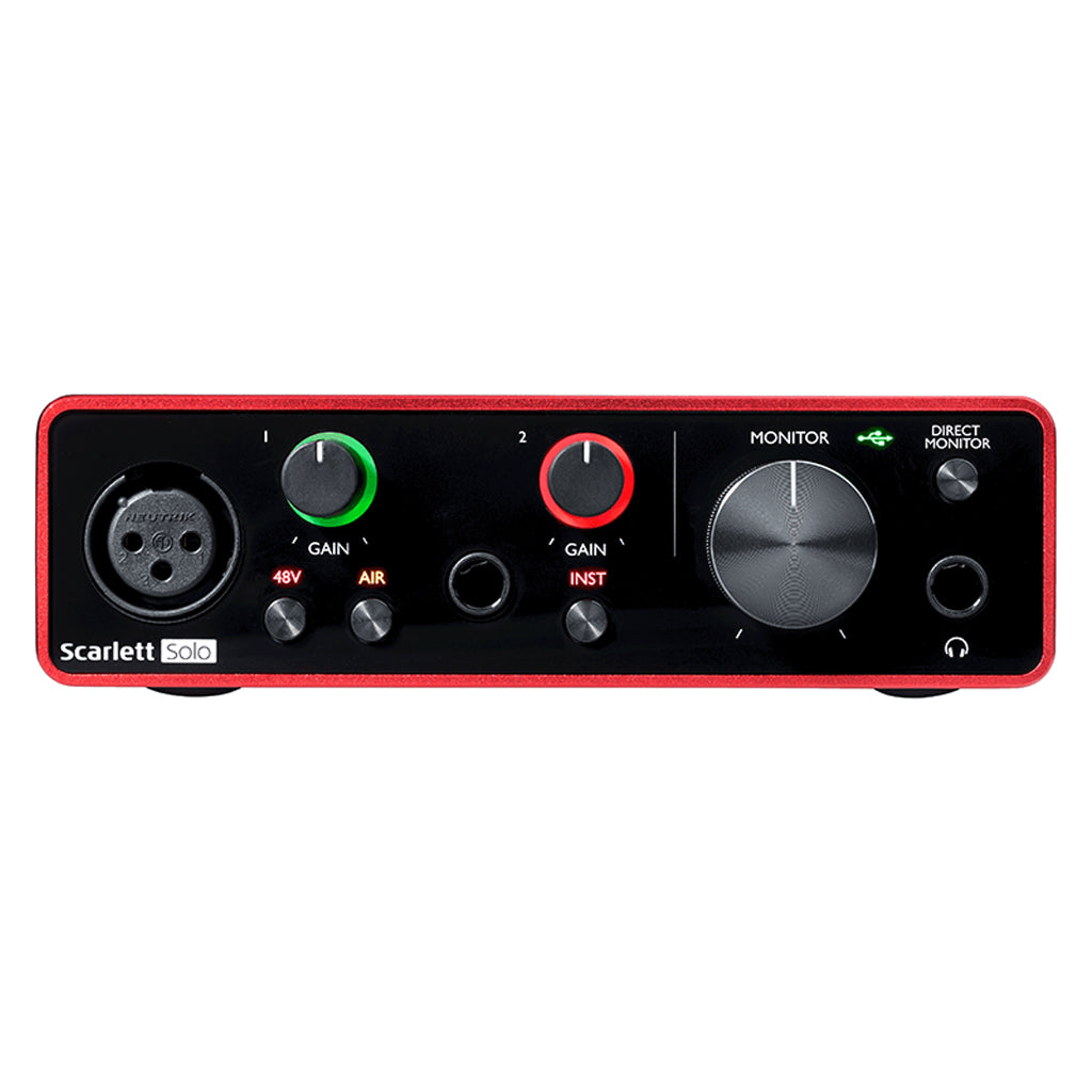 Focusrite Scarlett Solo Gen3 - 2 in 2 out USB Audio Interface