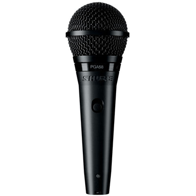 Shure PGA58 MICROPHONE DYNAMIC LO Z VOCAL CARDIOID XLR CABLE