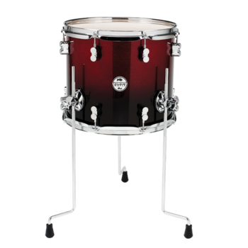 "PDP 14""X12"" Floor Tom - Red To Black Fade"