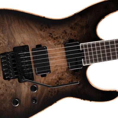 Jackson - Limited Edition Wildcard Series Soloist™ SL2P, Poplar Burl Top - Ebony Fingerboard, Transparent Black Burst