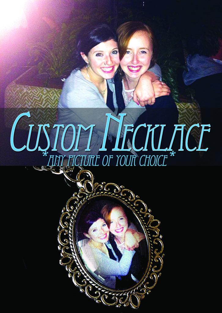 Custom Necklace (small) Any Picture of You Choice - Belle Regalia