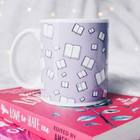 Lilac Flying Books Mug