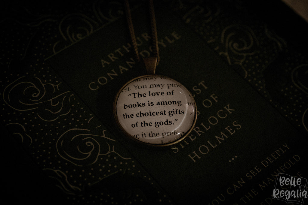Love of Books quote necklace