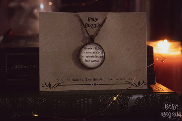 Sir Arthur Conan Doyle quote necklace