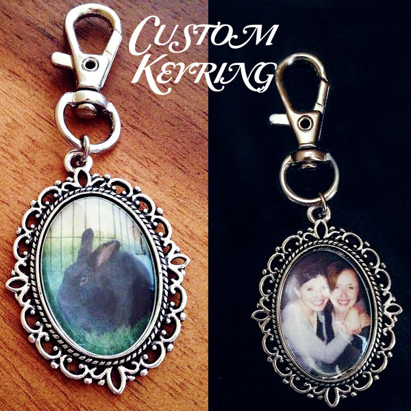 Custom Keyring- Any Picture of Your Choice - Belle Regalia - 1