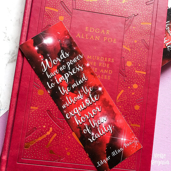 Edgar Allan Poe bookmark - Belle Regalia