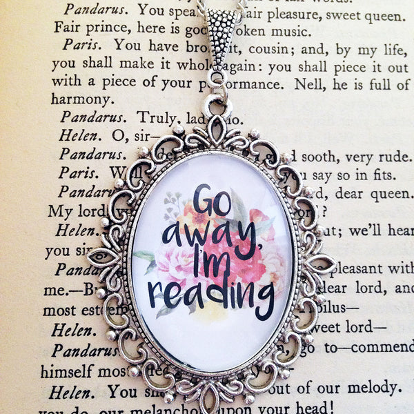 Go Away I'm Reading - Floral Necklace - Belle Regalia