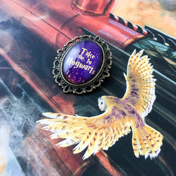 Take Me To Hogwarts Pin