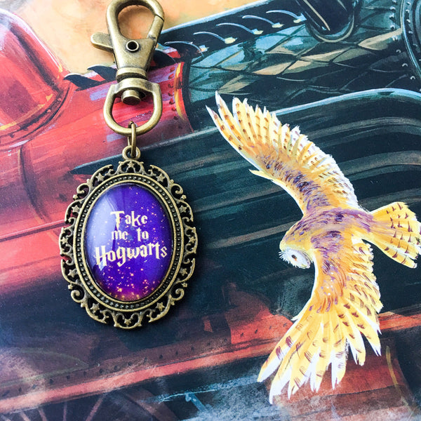 Take Me To Hogwarts keyring