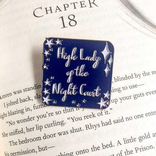 High Lady of the Night Court Enamel Pin - ACOMAF pin - Belle Regalia