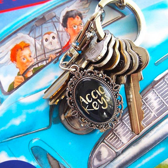 Accio Keys Harry Potter Keyring - Nouveau Setting - Belle Regalia
