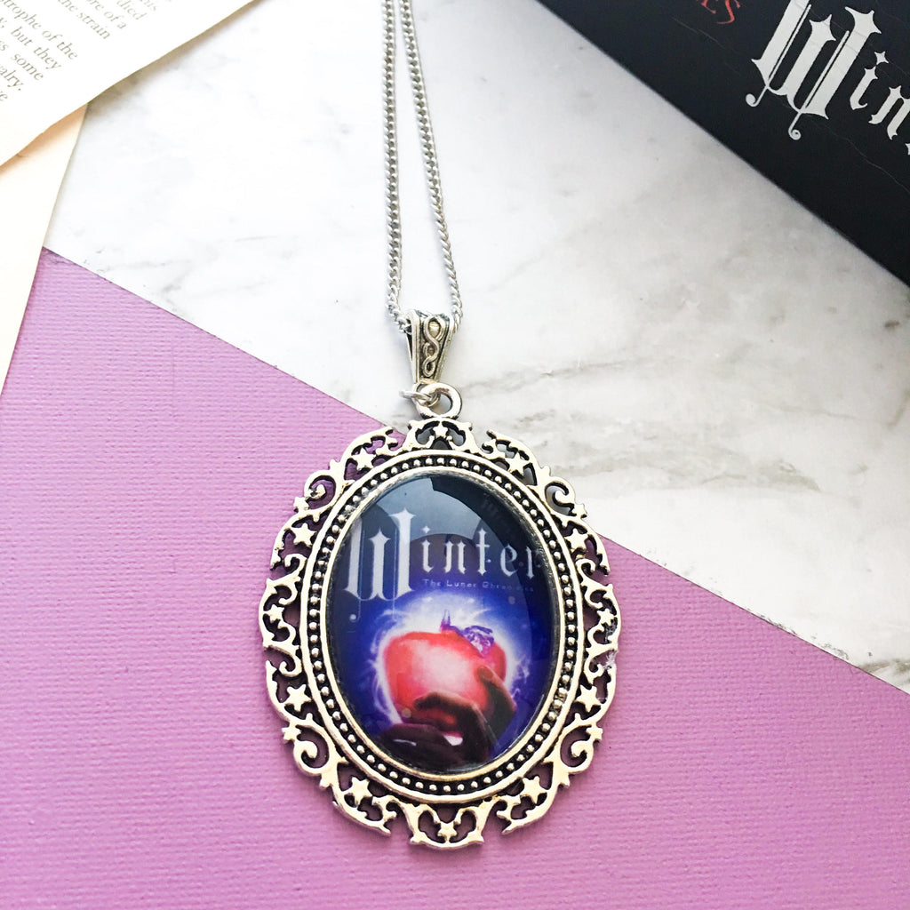 Winter Necklace The Lunar Chronicles Marissa Meyer Pendant Charm Necklace Bookish Gift Idea Book Necklace