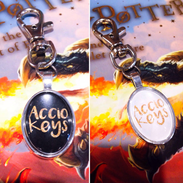 Accio Keys Harry Potter Keyring - Plain Setting - Belle Regalia