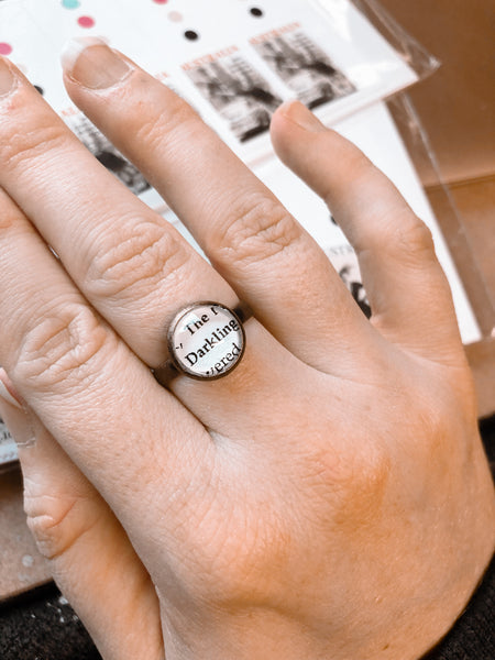 The Darkling-  Book Boyfriend adjustable ring